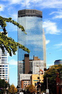 IDS Center Tower with 19 story Marquette Hotel