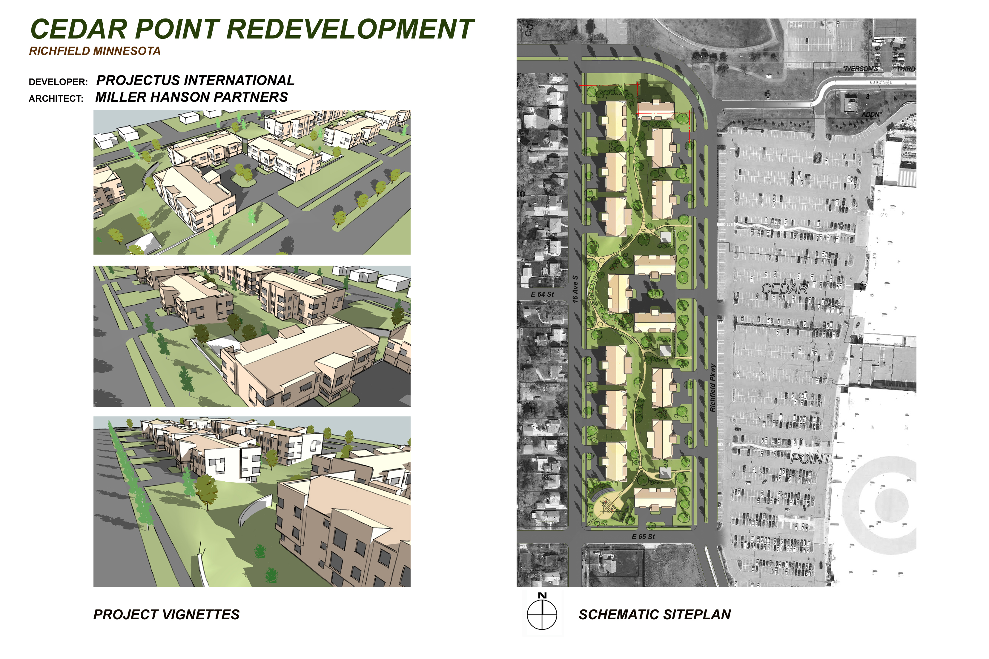 Cedar Point Redevelopment Project for City of Richfield, Minnesota, U.S.